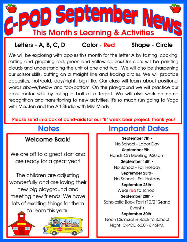 Delray Beach Day Care Facility | Monthly Newsletter