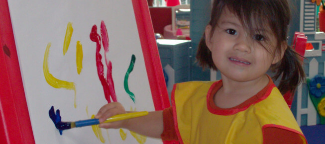 painting at preschool