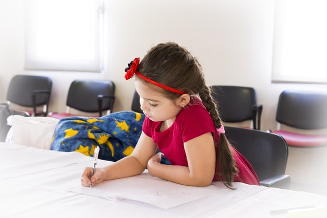 girl studying at the best Daycare In Boca Raton