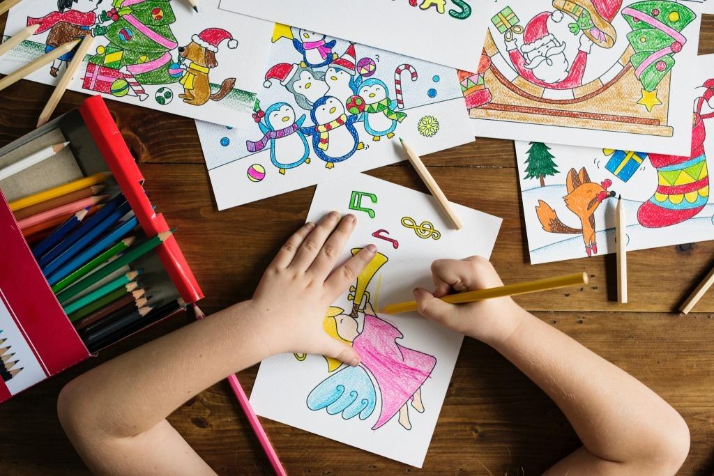 boca raton preschool - child drawing - get ready set grow